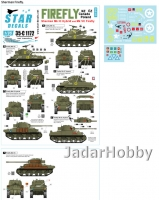 Star Decals 35-C1172 1/35 Sherman Firefly. Firefly Mk IC Hybrid, and Mk VC. Canada, Poland, New Zealand and Czechoslovakia.