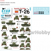 Star Decals 35-C1173 1/35 Spanish Civil War # 5. T-26. Republican T-26 m/1933