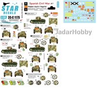 Star Decals 35-C1175 1/35 Spanish Civil War # 7. PzKpfw I Ausf A 'Negrillo'.