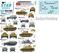 Star Decals 35-C1183 1/35 Fall Blau and Stalingrad # 1. Pz.Abt. 60, 60. Infanterie Div.