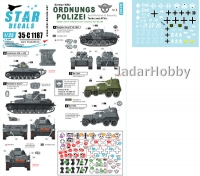 Star Decals 35-C1187 1/35 Ordnungs Polizei # 2. Tanks and AFVs. Anti Partisan and security service.