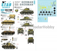 Star Decals 35-C1188 1/35 German Sherman. Captured / Beute Shermans in German service. M4, M4A1 and M4A3(W).