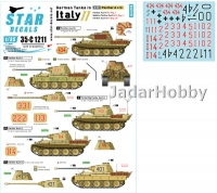 Star Decals 35-C1211 1/35 German Tanks in Italy #11.  Panther A, Bef-Panther A, Panther G.