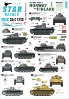 Star Decals 35-C1213 1/35 German Tanks in Norway & Finland # I. Pz I B, Kl.Pz-Bef. Wg I, Pz II C, Pz III H, N, Einheits LKW