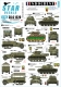 Star Decals 35-C1220 1/35 Indochine # 5. 1er Chasseurs. M5A1 Stuart, M3A1 White SC, M8 HMC, M24 , M2/M3A1 Halftracks