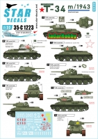 Star Decals 35-C1223 1/35 Red Army T-34 m/1943. Mixed turret types