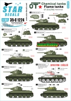 Star Decals 35-C1224 1/35 Red Army OT Flame Tanks. T-34 flame thrower version. Mixed turret types