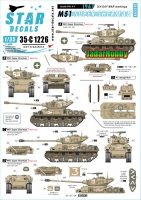 Star Decals 35-C1226 1/35 Israeli AFVs # 9. 1967 Six-Day War. M51 Super Sherman. Mixed hull types