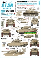 Star Decals 35-C1228 1/35 Israeli AFVs # 11. 1967 Six-Day War. Centurion Mk 5 and M50 Super Sherman (command tank)