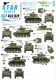 Star Decals 35-C1229 1/35 US M5A1 Stuart. 75th-D-Day-Special. Normandy and France in 1944