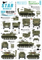 Star Decals 35-C1234 1/35 US S.P. Howitzers. M7 Priest and M8 HMC. 75th-D-Day-Special