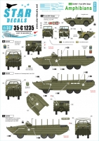 Star Decals 35-C1235 1/35 US Amphibians. Ford GPA and DUKW. 75th-D-Day-Special