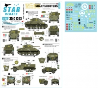 Star Decals 35-C1243 1/35 British Sharpshooters. 75th D-Day Special. Shermans and AFVs of 3rd/4th CLY.