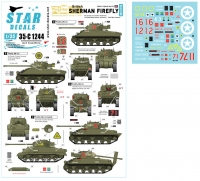 Star Decals 35-C1244 1/35 British Sherman Firefly. 75th D-Day Special. Firefly Mk IC Hybrid and Mk VC.