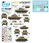 Star Decals 35-C1246 1/35 British Shermans on the Beach. 75th D-Day Special. Swimming Sherman Mk II and Mk V DD.