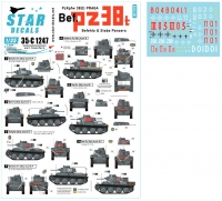 Star Decals 35-C1247 1/35 PzKpfw 38(t) Praga. Befehls and Stabs Panzers. Eastern Front.