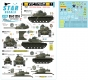 Star Decals 35-C1251 1/35 Vietnam ARVN # 1. M41 Walker Bulldog and M48A3 Patton in South Vietnam army.