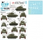 Star Decals 35-C1255 1/35 US Army Tanks in Korea. M24 Chaffee, M26 Pershing and M45 105mm Pershing 1950-53