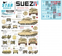 Star Decals 35-C1256 1/35 Star Decals 35-C1256 1/35 1956 Suez Crisis # 1. British and French Tanks and AFVs.