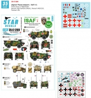 Star Decals 35-C1269 1/35 ISAF # 3. French troops in Afghanistan. VAB and Panhard.
