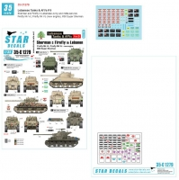 Star Decals 35-C1279 1/35 Lebanese Tanks & AFVs # 9. Sherman Firefly and M50 Super Sherman. Lebanese Army and militia