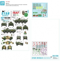 Star Decals 35-C1282 1/35 ISAF # 4. AFVs used by Hungary, Bulgaria and Portugal in Afghanistan. BTR-80A, BRDM-2 and Panhard