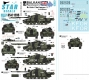 Star Decals 35-C1295 1/35 Balkan Peacekeepers # 13. British Challenger 2 in Kosovo.