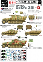 Star Decals 35914 1/35 Eastern front 1945 SdKfz 251 Ausf D