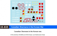 Star Decals 35935 1/35 Canadian Shermans in the Korean War