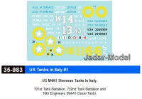 Star Decals 35983 M4A1 Sherman Tanks (1:35)