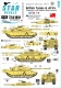 Star Decals 72-A1010 1/72 Desert Storm 1991 #1. British Challenger I and M109A2