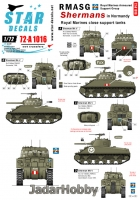 Star Decals 72-A1016 1/72 RMASG Shermans. Royal Marines Support tanks in Normandy.