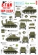 Star Decals 72-A1034 1/72 US M4A1 Sherman. 75th-D-Day-Special.Normandy and France in 1944