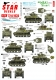 Star Decals 72-A1035 1/72 US M5A1 Stuart. 75th-D-Day-Special.Normandy and France in 1944