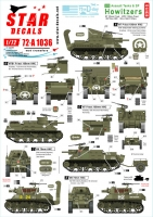 Star Decals 72-A1036 1/72 US S.P. Howitzers. M7 Priest, M8 HMC and M4 (105mm). 75th-D-Day-Special