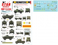 Star Decals 72-A1044 1/72 Vietnam ARVN # 3. V-100 Commando, Greyhound and other AFVs in South Vietnam army.