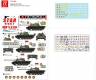 Star Decals 72-A1054 1/72 Vietnam # 4. NVA North Vietnamese T-54 tank markings