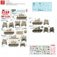 Star Decals 72-A1056 1/72 Israeli AFVs # 1. 1960s and Six-Day War markings. M1 Super Sherman