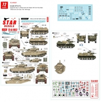 Star Decals 72-A1057 1/72 Israeli AFVs # 2. 1960s and Six-Day War markings. M7 Priest and Centurion