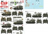Star Decals 72-A1063 1/72 Big Guns in Vietnam. US M108 and M109 SP Guns.