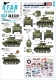 Star Decals 35-C1311 1/35 US Armored Mix # 4. M5A1 Stuart light tank in Europe 1944-45.