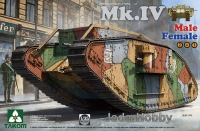Takom 2076 1/35 Mk.IV Male/Female (2 in 1 Special Edition)