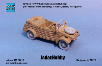 Tank Models TM72010 1/72 Wheels for VW Kübelwagen with Hubcabs