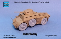 Tank Models TM72013 1/72 Wheels for Autoblindo M41 Libya Sand Tires (for Italeri)
