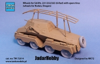 Tank Models TM72014 1/72 Wheels for Sd.Kfz. 231/232/263 (8-Rad) with spare tires (for Roden, Dragon)