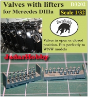 Taurusmodels D3202 Valves w/Lifters for Mercedes DIIIa (1/32)