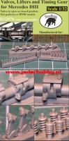 Taurusmodels D3207b  Valves, Lifters and Timing Gear for Mercedes DIII (1/32)