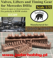 Taurusmodels D3209 Valves, Lifters and Timing Gear for Mercedes DIIIa (1/32)