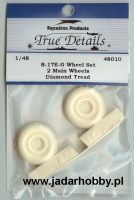 True Details 48010 B-17E-G Wheel Set, Diamond Tread (1/48)