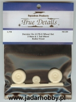 True Details 48109 Dornier Do 217E-5 Wheel Set, Radial Tread (1/48)
